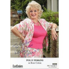 Polly Perkins Autograph - EastEnders - Signed 6x4 Cast Card - Dedicated - AFTAL