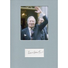 Edward Heath Autograph - Signed 12x8 Mount - Handsigned and Genuine - AFTAL