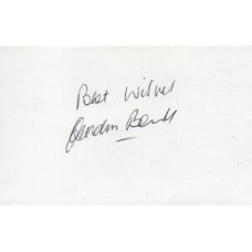 Gordon Banks Autograph - World Cup 1966 - Signed 6x4 Card - Handsigned - AFTAL