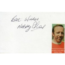 Nobby Stiles Autograph - World Cup 1966 - Signed 6x4 Card 2 - Handsigned - AFTAL