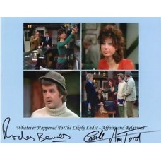 Rodney Bewes and Carole Ann Ford - Likely Lads - Signed 10x8 Photo - AFTAL