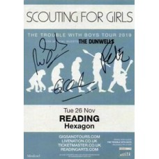 Scouting For Girls Autograph - Reading Hexagon Live 2019 Flyer Signed - AFTAL