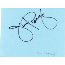 Jan Rooney Autograph - Signed Page - Hand Signed and Genuine - AFTAL