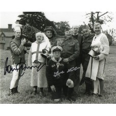 Frank Williams & Ian Lavender -Autograph - Dads Army - Signed 10x8 Photo - AFTAL