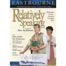 John Challis & Sue Holderness -Only Fools- Signed Flyer - Handsigned - AFTAL