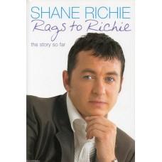 Shane Richie - Rags To Richie - Hardback Book Signed  - Handsigned - AFTAL