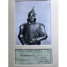 Jack Haley Autograph - The Wizard Of Oz - Tinman - Signed 16x12 Mount 2 - AFTAL