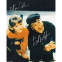 Dick Van Dyke and Karen Dotrice - Mary Poppins - Signed 10x8 Photo - Handsigned