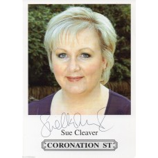 Sue Cleaver - Coronation Street - Signed 6x4 Cast Card 1 - Hand Signed - AFTAL
