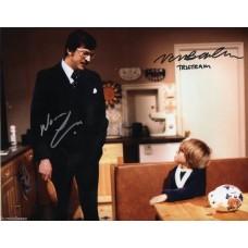 Norman Eshley & Nicholas Bond-Owen Autograph - George & Mildred - Signed 10x8 Photo