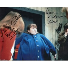 Denise Nickerson and Julie Dawn Cole - Willy Wonka - Signed 10x8 Photo - AFTAL