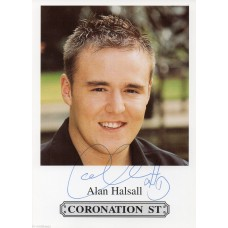Alan Halsall -Coronation Street - Signed 6x4 Cast Card - Hand Signed - AFTAL