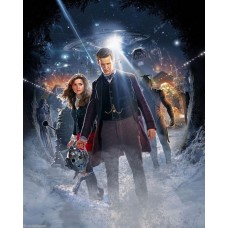 Jenna-Louise Coleman and Matt Smith - Doctor Who - 10x8 Unsigned Still 4
