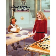 Albert Wilkinson and Julie Dawn Cole - Willy Wonka - Signed 10x8 Photo 2 - AFTAL