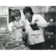 Jim Dale & Angela Douglas Autograph - Carry On - Signed 10x8 Photo 2 - AFTAL