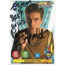 Peter Capaldi Autograph - Signed 3.5 x 2.5 Doctor Who Trading Card 1 - Handsigned - AFTAL