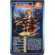 Colin Baker Autograph - Signed 3.5 x 2.5 Doctor Who Trading Card 4 - Handsigned - AFTAL