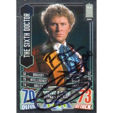 Colin Baker Autograph - Signed 3.5 x 2.5 Doctor Who Trading Card 5 - Handsigned - AFTAL