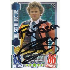 Colin Baker Autograph - Signed 3.5 x 2.5 Doctor Who Trading Card 8 - Handsigned - AFTAL