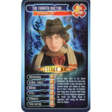 Tom Baker Autograph - Signed 3.5 x 2.5 Doctor Who Trading Card 2 - Handsigned - AFTAL