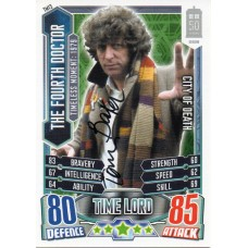 Tom Baker Autograph - Signed 3.5 x 2.5 Doctor Who Trading Card 3 - Handsigned - AFTAL