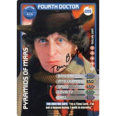 Tom Baker Autograph - Signed 3.5 x 2.5 Doctor Who Trading Card 5 - Handsigned - AFTAL