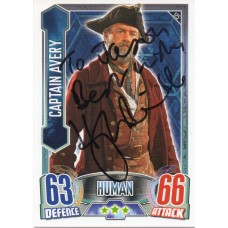 Hugh Bonneville Autograph - Signed 3.5 x 2.5 Doctor Who Trading Card - Handsigned - AFTAL
