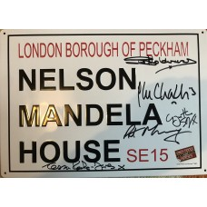 Only Fools and Horses - Signed 12x8 Metal Sign - Signed by 5 Cast - AFTAL