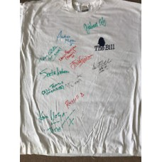 The Bill - Vintage Promotional T-Shirt Signed by 11 Cast Members - AFTAL