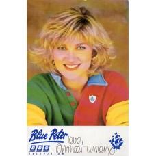 Anthea Turner Autograph - Blue Peter - Signed 6x4 Cast Card - Handsigned - AFTAL