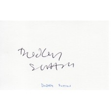 Dudley Sutton Autograph - Lovejoy - Signed Card - Handsigned - AFTAL