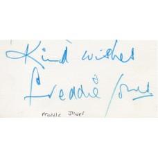 Freddie Jones Autograph - Signed Card - Hand Signed - AFTAL