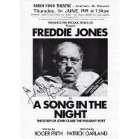 Freddie Jones Autograph - Signed Flyer - Hand Signed - AFTAL
