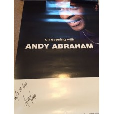 Andy Abraham Autograph - Signed 27.5x19.5 Poster - Handsigned - AFTAL