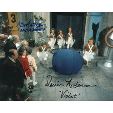 Denise Nickerson & Albert Wilkinson - Willy Wonka - Signed 10x8 Photo 1 - AFTAL
