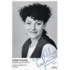 Kerry Peers Autograph - The Bill - Signed 6x4 Cast Card 2 - Handsigned - AFTAL