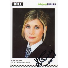 Kim Tiddy Autograph - The Bill - Signed 6x4 Cast Card 2 - Handsigned - AFTAL