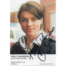 Holly Davidson Autograph - The Bill - Signed 6x4 Cast Card 2 - Handsigned - AFTAL