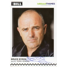 Bruce Byron Autograph - The Bill - Signed 6x4 Cast Card 2 - Handsigned - AFTAL