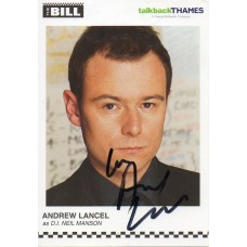Andrew Lancel Autograph - The Bill - Signed 6x4 Cast Card 3 - Handsigned - AFTAL