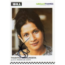 Thusitha Jayasundera Autograph - The Bill - Signed 6x4 Cast Card 2 - Handsigned - AFTAL