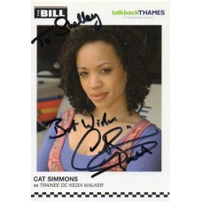 Cat Simmons Autograph - The Bill - Signed 6x4 Cast Card 2 - Handsigned - AFTAL