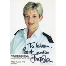 Trudie Goodwin Autograph - The Bill - Signed 6x4 Cast Card 6 - Handsigned - AFTAL