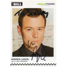 Andrew Lancel Autograph - The Bill - Signed 6x4 Cast Card 4 - Handsigned - AFTAL