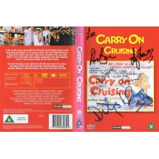 Carry On Cruising DVD Signed by 5 - Handsigned and Genuine - AFTAL