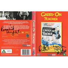 Carry On Teacher DVD Signed by 4 - Handsigned and Genuine - AFTAL