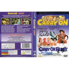Carry On Henry DVD Signed by 4 - Handsigned and Genuine - AFTAL