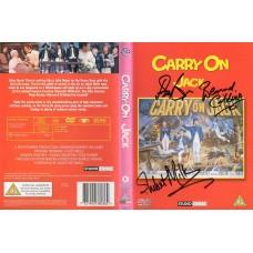Carry On Jack DVD Signed by 3 - Handsigned and Genuine - AFTAL