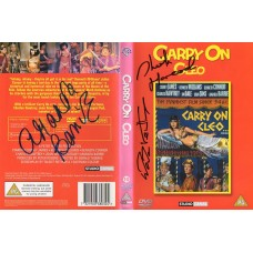 Carry On Cleo DVD Signed by 3 - Handsigned and Genuine - AFTAL