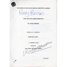 Oh Doctor Beeching - Original Script - Signed By Perry Benson & Richard Spendlove - Genuine - AFTAL - 5